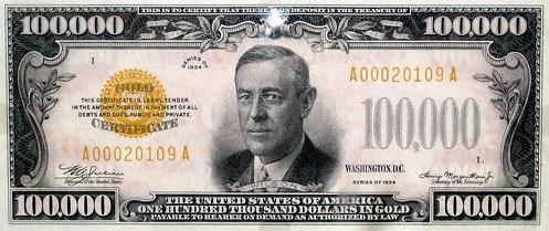 100000 Dollar Bill