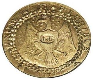 1787 Brasher Doubloon 'EB' on Breast