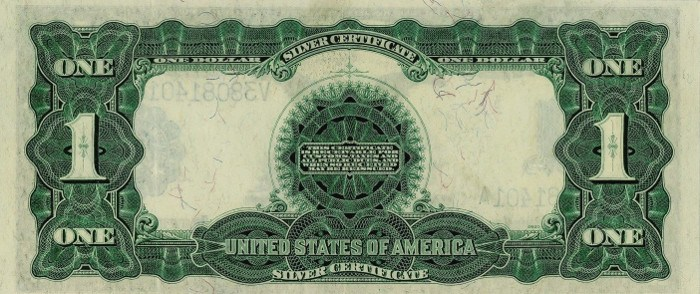 1899 One Dollar Silver Certificate Back