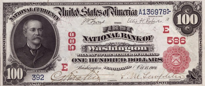 1902 100 Dollar National Bank Note