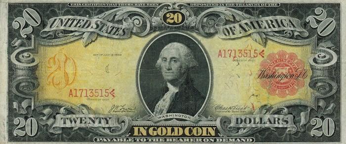 1905 20 Dollar Gold Certificate