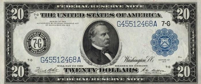 1914 20 Dollar Bill