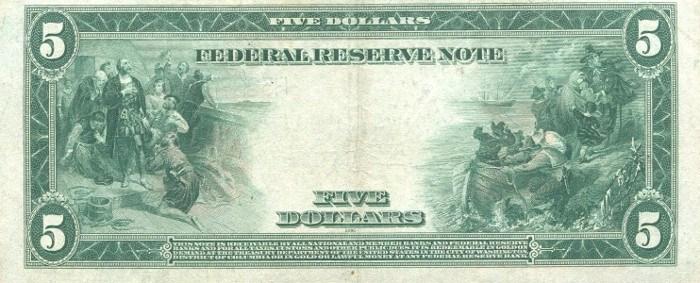 1914 5 Dollar Bill