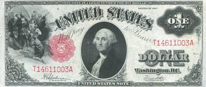 1917 One Dollar Bill
