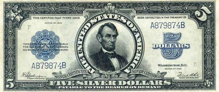 1923 Five Dollar Silver Certificate