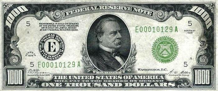 1928 1000 Dollar Bill