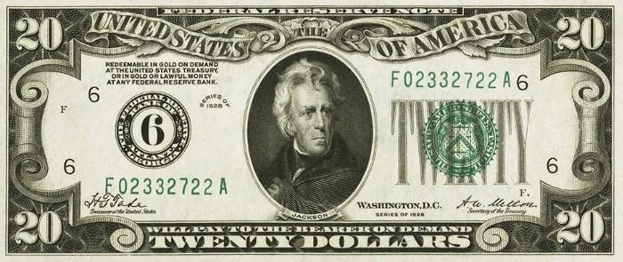 1928 20 Dollar Bill