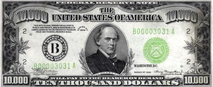 1934 10000 Dollar Bill