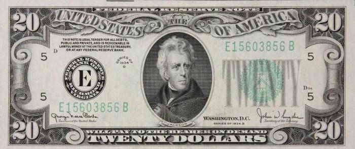 1934 20 Dollar Bill
