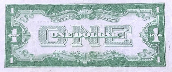 1934 One Dollar Silver Certificate Back