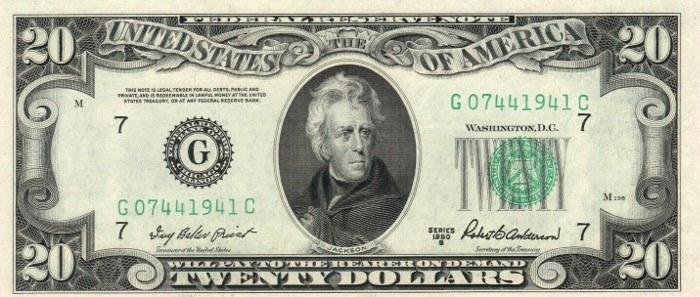 1950 20 Dollar Bill