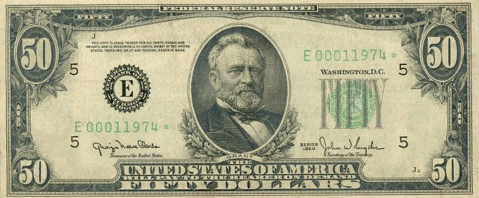 1950 50 Dollar Bill