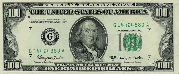 1950 Series 100 Dollar Bill