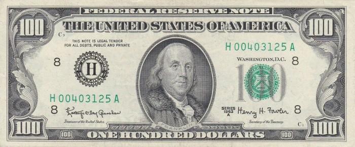 1963 100 Dollar Bill