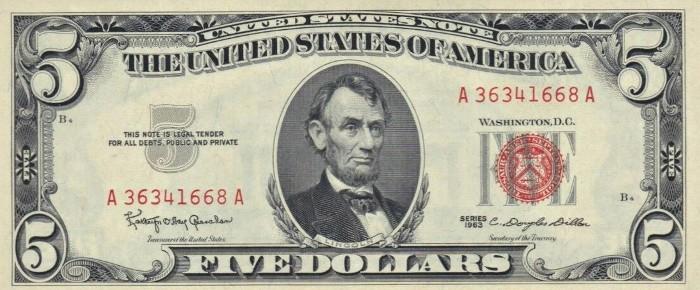 1963 5 Dollar Bill