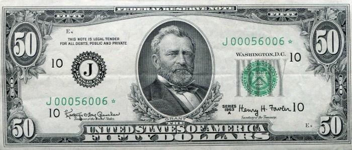 1963 50 Dollar Bill