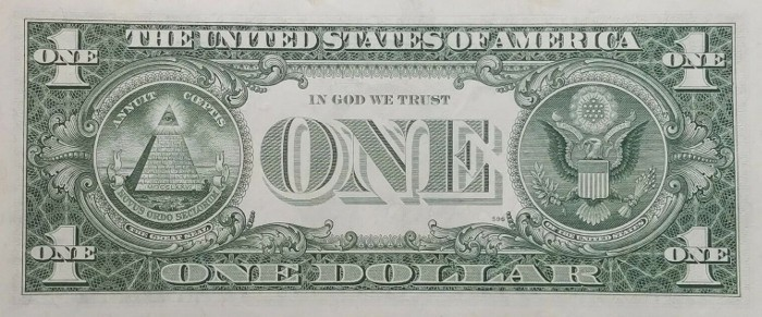 1963 One Dollar Bill Reverse