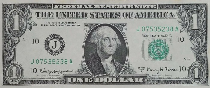 1963 One Dollar Bill
