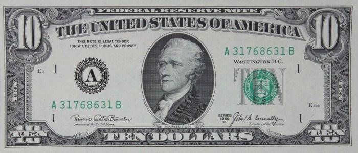1969 10 Dollar Bill