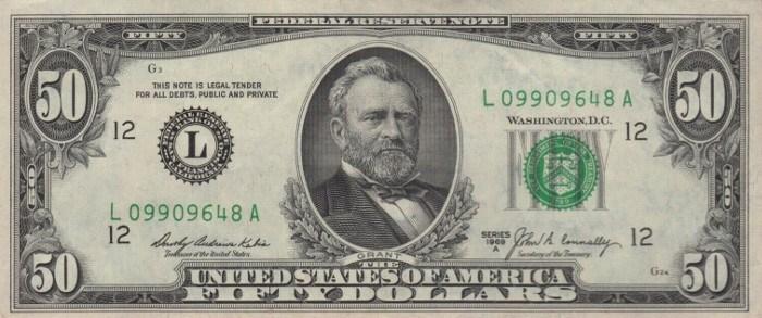1969 50 Dollar Bill