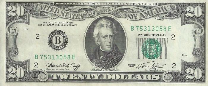 1974 20 Dollar Bill