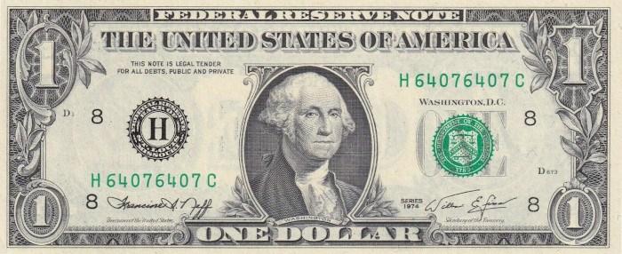 1974 One Dollar Bill