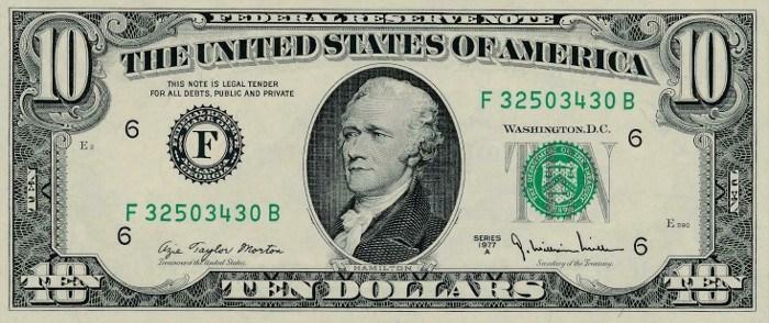 1977 10 Dollar Bill