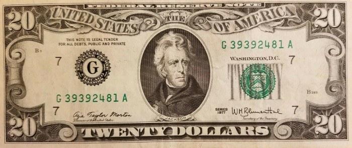 1977 20 Dollar Bill