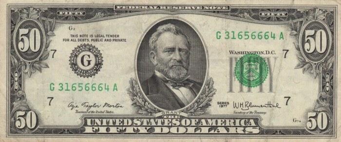 1977 50 Dollar Bill