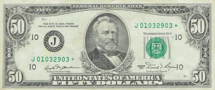 1981 50 Dollar Bill