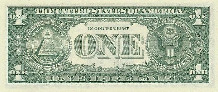 1981 One Dollar Bill Reverse