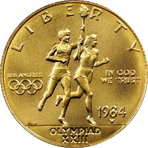 1984 US Olympic Gold Coin