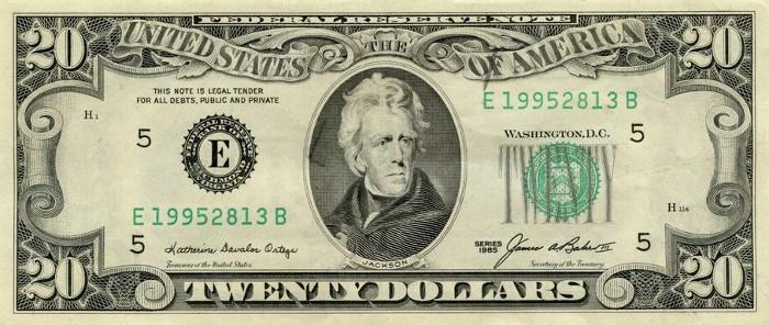 1985 20 Dollar Bill