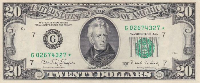 1988 20 Dollar Bill