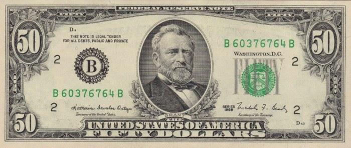 1988 50 Dollar Bill