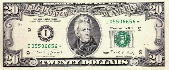 1990 20 Dollar Bill