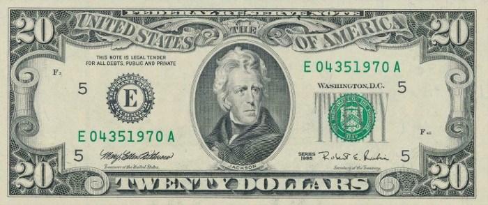 1995 20 Dollar Bill