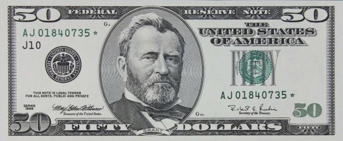 1996 50 Dollar Bill
