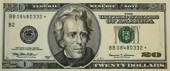 1999 20 Dollar Bill