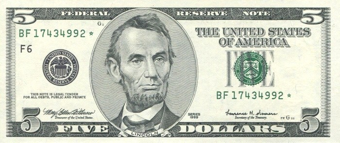 1999 5 Dollar Bill Learn The Value Of This Bill