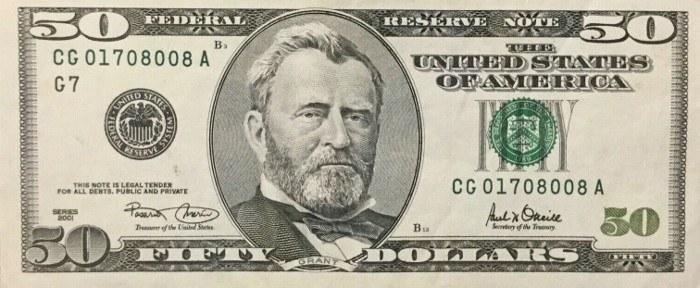2001 50 Dollar Bill