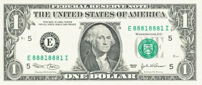 2003 One Dollar Bill