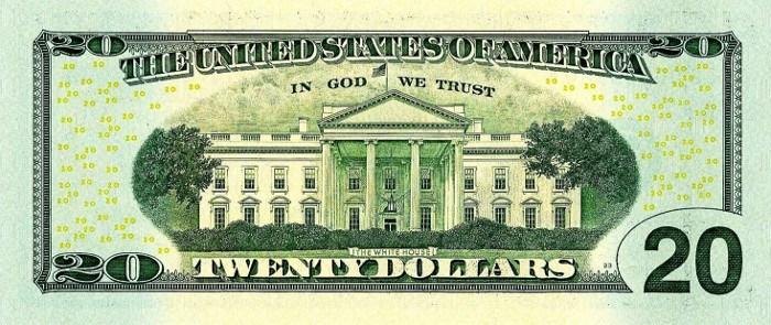 2004 20 Dollar Bill Reverse