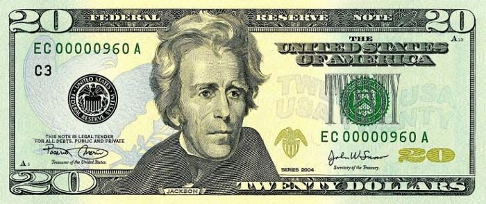 2004 20 Dollar Bill
