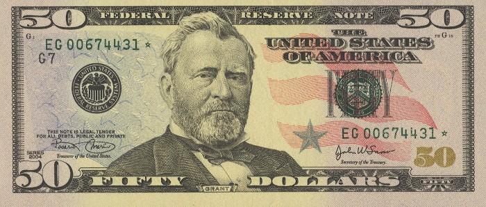 2004 50 Dollar Bill