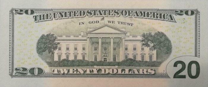 2006 20 Dollar Bill Reverse