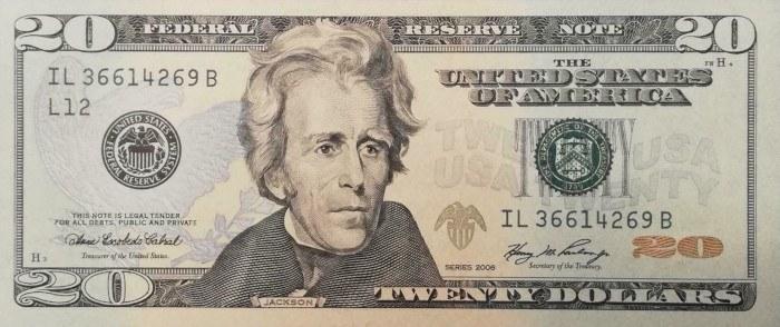 2006 20 Dollar Bill