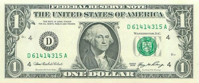 2006 One Dollar Bill