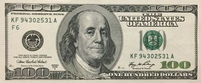2006 Series 100 Dollar Bill