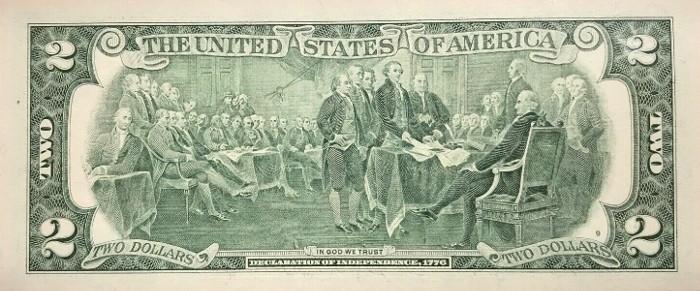 2009 2 Dollar Bill Reverse